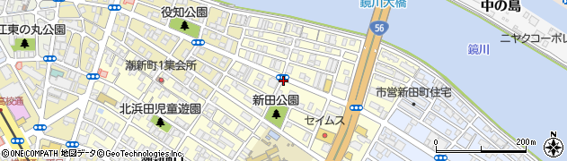 高知県高知市北新田町周辺の地図