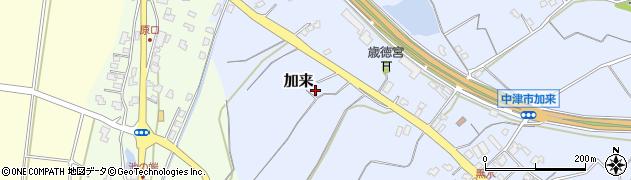 大分県中津市加来2197周辺の地図