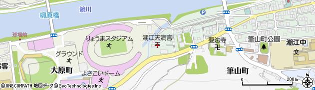 潮江天満宮周辺の地図