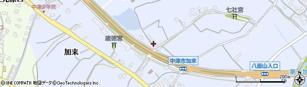 大分県中津市加来1333周辺の地図