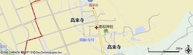 福岡県糸島市高来寺周辺の地図
