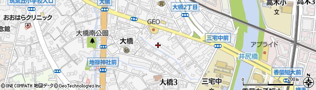 福岡県福岡市南区大橋3丁目周辺の地図