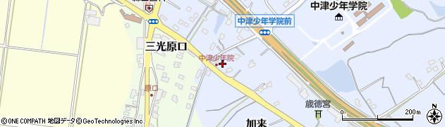 大分県中津市加来2148周辺の地図