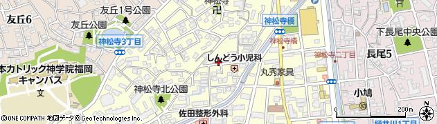 福岡県福岡市城南区神松寺周辺の地図