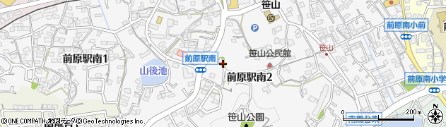 福岡県糸島市前原駅南周辺の地図