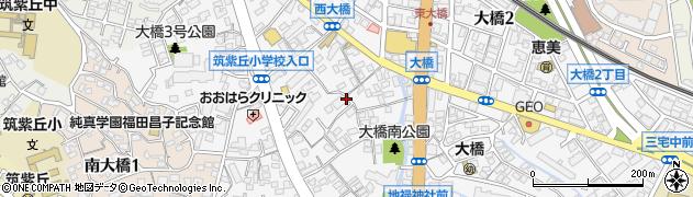 福岡県福岡市南区大橋4丁目周辺の地図