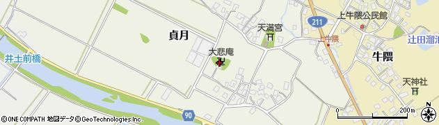 大慈庵寺周辺の地図