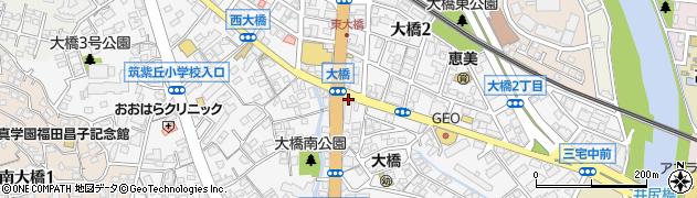 福岡県福岡市南区大橋周辺の地図