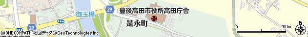 大分県豊後高田市周辺の地図