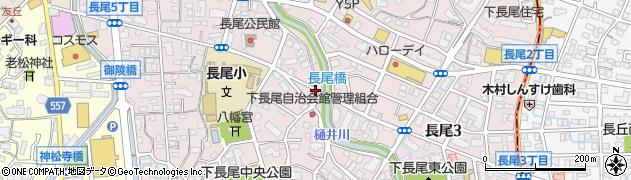 福岡県福岡市城南区長尾周辺の地図