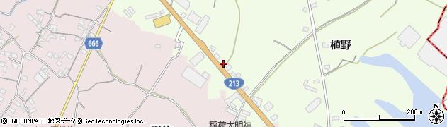 大分県中津市植野502周辺の地図