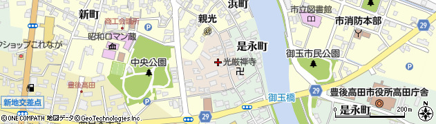 大分県豊後高田市鍛治屋町周辺の地図