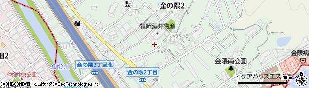 福岡県福岡市博多区金の隈周辺の地図