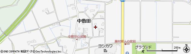 大分県宇佐市中敷田周辺の地図