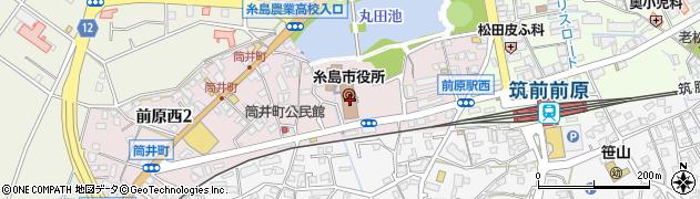 福岡県糸島市周辺の地図