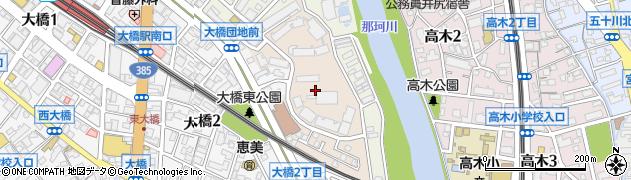福岡県福岡市南区大橋団地周辺の地図