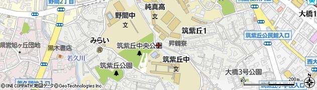 福岡県福岡市南区筑紫丘周辺の地図