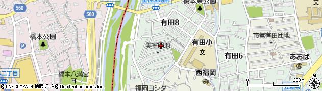 美室団地周辺の地図