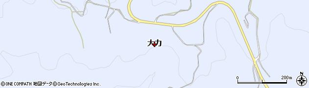 大分県豊後高田市大力周辺の地図