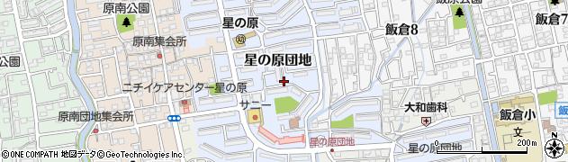 福岡県福岡市早良区星の原団地周辺の地図