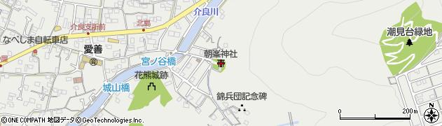 朝峯神社周辺の地図