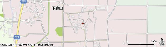 大分県宇佐市森山(下森山)周辺の地図