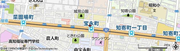 高知県高知市中宝永町周辺の地図