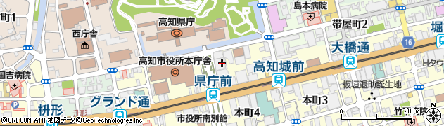 高知県高知市周辺の地図