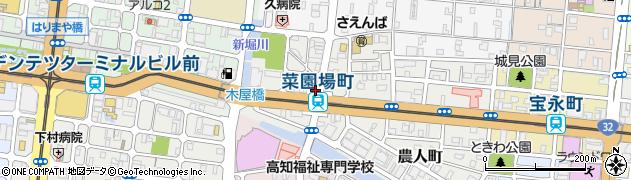 高知県高知市菜園場町周辺の地図