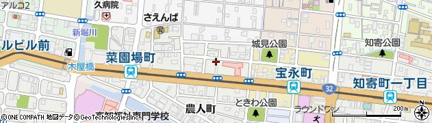 高知県高知市城見町周辺の地図