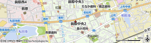 福岡県糸島市前原中央周辺の地図