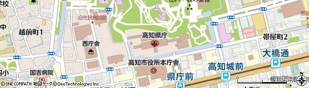 高知県周辺の地図