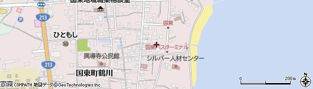 大分県国東市国東町鶴川577周辺の地図
