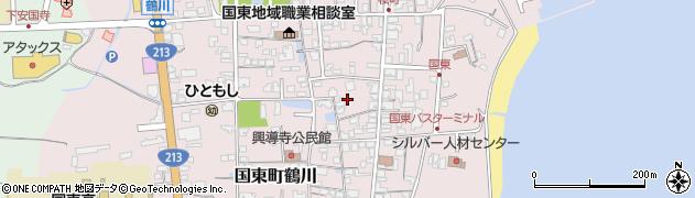 大分県国東市国東町鶴川周辺の地図