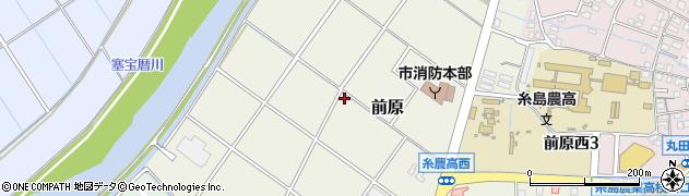 福岡県糸島市前原周辺の地図