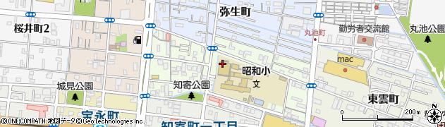 高知県高知市日の出町周辺の地図
