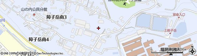 福岡県宇美町(糟屋郡)障子岳南周辺の地図