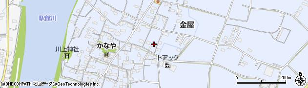 大分県宇佐市金屋周辺の地図