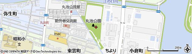 高知県高知市丸池町周辺の地図