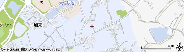 大分県中津市加来447周辺の地図
