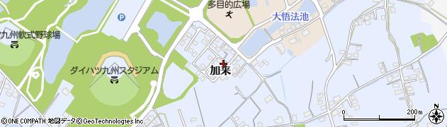 大分県中津市加来周辺の地図