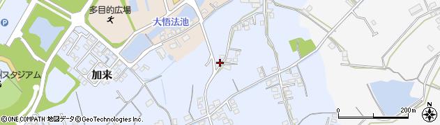 大分県中津市加来523周辺の地図