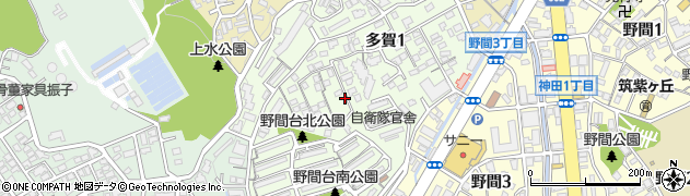 福岡県福岡市南区多賀周辺の地図