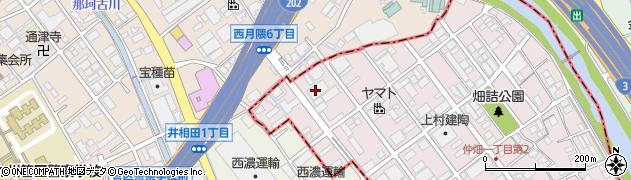 松田自動車整備工場大野城店周辺の地図