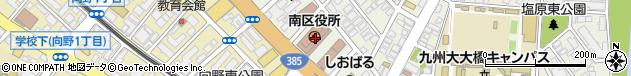 福岡県福岡市南区周辺の地図