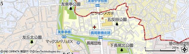 福岡県福岡市城南区友泉亭周辺の地図