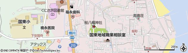 大分県国東市国東町鶴川213周辺の地図