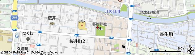 多賀神社周辺の地図