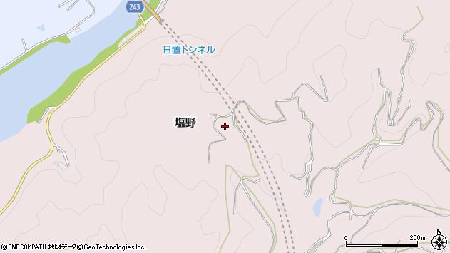 〒649-2525 和歌山県西牟婁郡白浜町塩野の地図