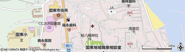 大分県国東市国東町鶴川95周辺の地図